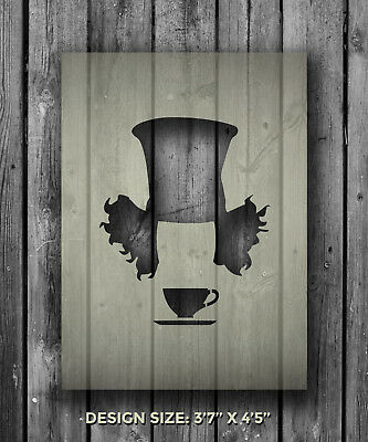 A5 Mad Hatter Mylar Reusable Stencil Airbrush Painting Art Craft DIY Home Decor ()