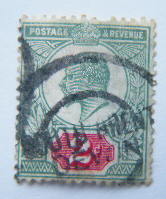 GB KEVII 1902 2d Green / Red