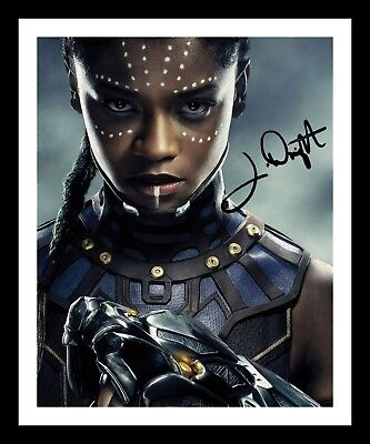LETITA WRIGHT - BLACK PANTHER AUTOGRAPHED SIGNED & FRAMED PP POSTER PHOTO