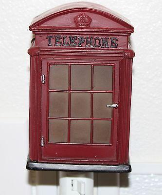 Retro Style Nightlight Lamp London Phone Booth Design Home D