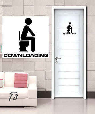 Downloading Funny Toilet Entrance Sign Decal Vinyl Sticker Bars Home Hotel Shop