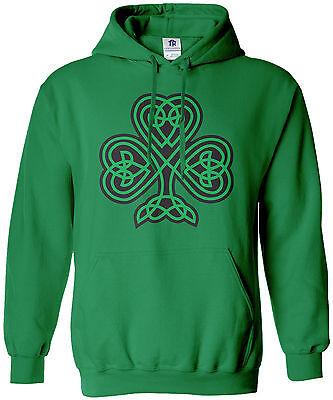 - Threadrock Men's Celtic Shamrock Hoodie Sweatshirt Irish Pride St Patrick's