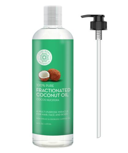 Pure Body Naturals Premium Fractionated Fine Coconut Oil for