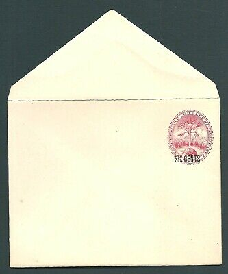 SEYCHELLES Queen Victoria unused 6c postal stationery cover