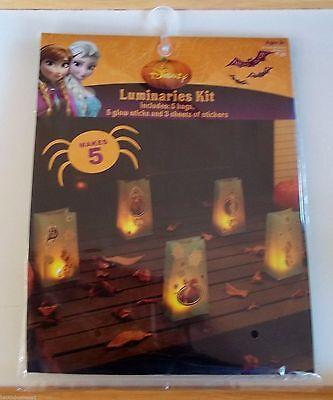DISNEY-FROZEN-LUMINARIES KIT-MAKES 5-INCLUDES BAGS,GLOW STICKS,3 STICKER SHEETS!](Halloween Luminary Bags Make)