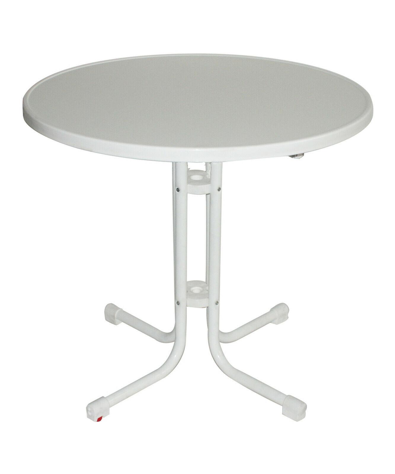Bistrotisch/Terrassentisch/Gartentisch in D70cm oder D80cm, Weiß oder Anthrazit