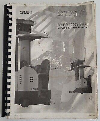 Crown Rrrd 5200s Series Forklift Service Parts Manual