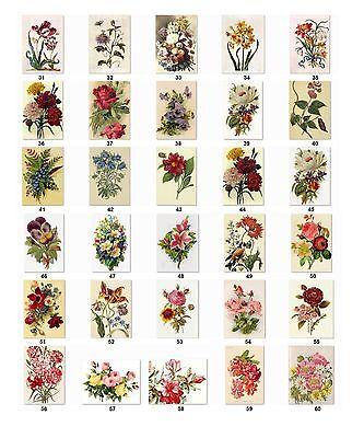 30 Personalized Return Address Vintage Flowers Labels Buy 3 Get 1 Free Vif2
