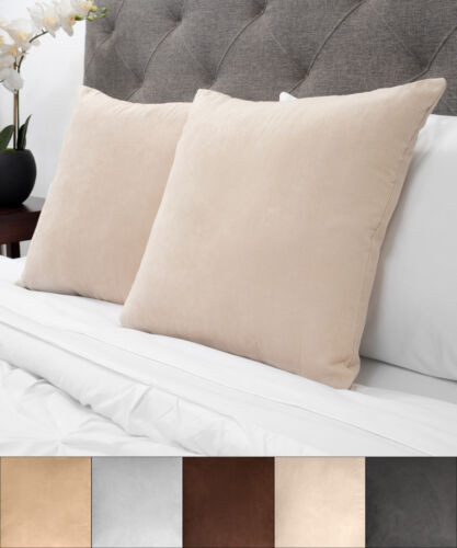 Sweet Home Collection Faux Suede Decorative 18 x 18 Throw Pillow Pair Home & Garden