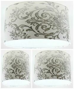 lampshade handmade with laura ashley aston silver. Black Bedroom Furniture Sets. Home Design Ideas