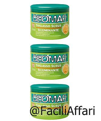 3 X Geomar THALASSO scrub ILLUMINANTE esfoliazione cutanea naturale talasso