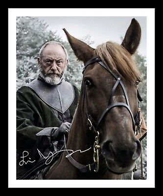 LIAM CUNNINGHAM - GAME OF THRONES AUTOGRAPHED SIGNED & FRAMED PP POSTER PHOTO