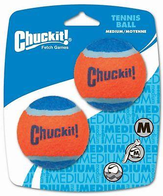 Chuckit! Tennis Ball Medium 2.5-inch, 2 pack M, 2-Pack