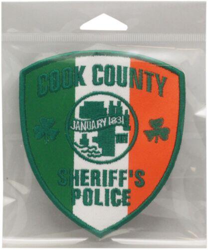 "Cook County Irish Patch Shamrock Approx. 4"" x 4.5"""