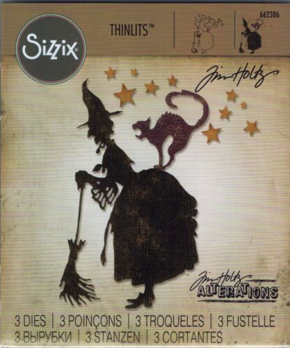 Tim Holtz Sizzix Thinlits Carbon Steel Die - Witchcraft - Halloween - 662386