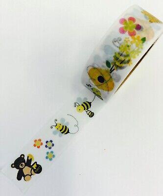 BumbleBee Bees teddy bear Washi Tape Papercraft Planner Supply Party DIY Craft - Diy Teddy Bear