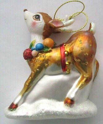 Mercury glass REINDEER Christmas Ornament ()