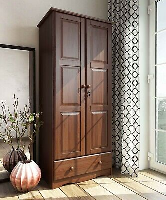 100% Solid Wood Flexible Wardrobe/Armoire/Closet by Palace Imports, 3 Colors ()