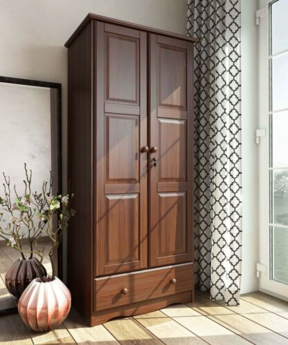 100% Solid Wood Flexible Wardrobe/Armoire/Closet by Palace Imports, 3 Colors