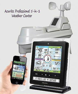 AcuRite Pro 5-in-1 Color Digital Weather Station with PC-Smartphone Connect