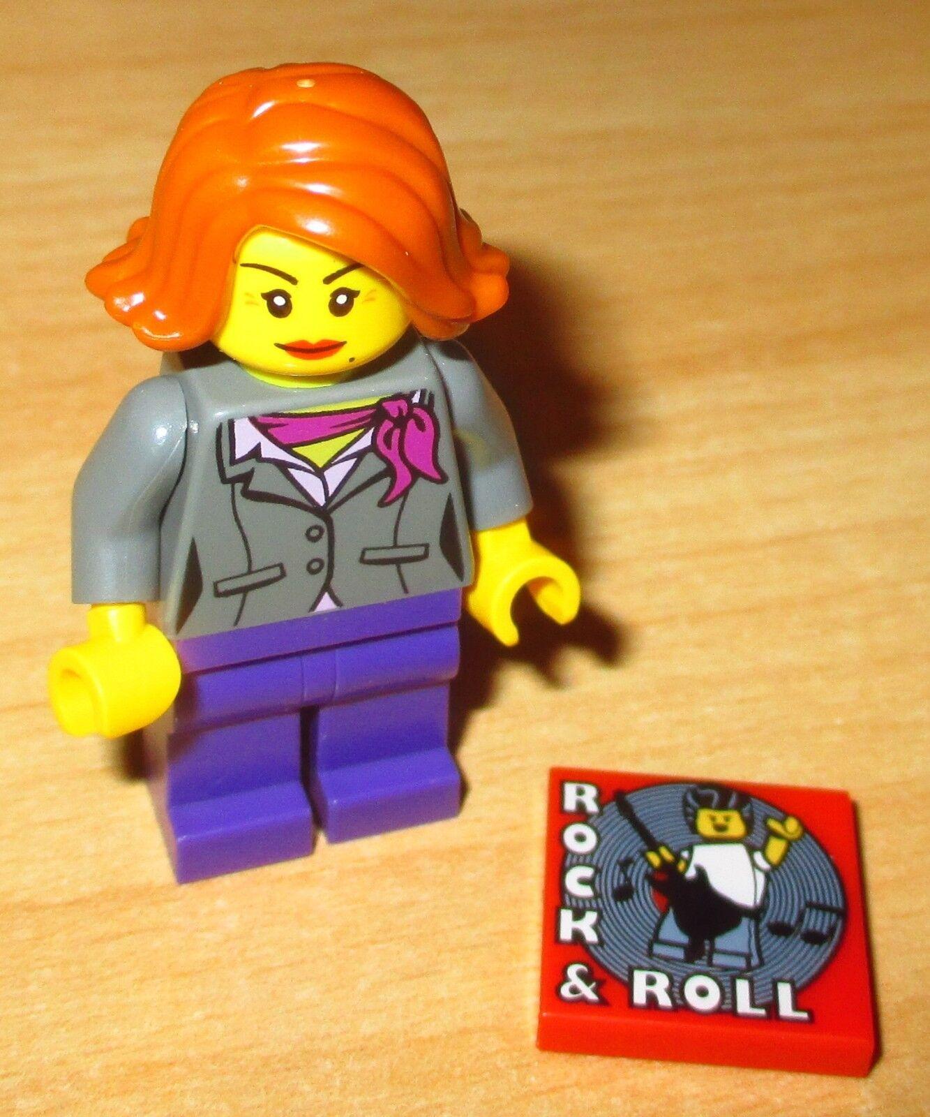 Lego Figur Female Guest Neu City Stadtbewohner Town Frau weiblicher Gast rot
