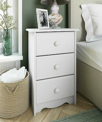 100% Solid Wood Night Stand With 3 Drawers by Palace Imports, 4 Colors ()