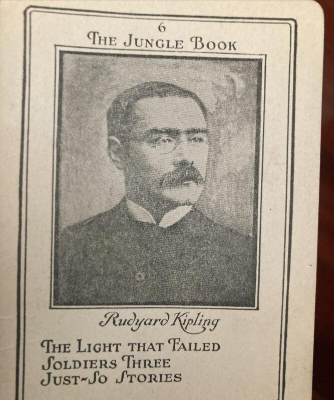 Rudyard  Kipling 1920s Jungle Book Trading Card 6 rudy