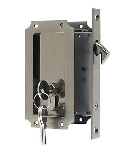 Fpl Manor Pocket Door Mortise Lock With Double Keyed