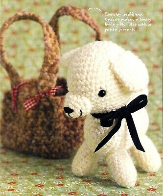 ADORABLE Dainty Doggy & Basket/Toy/Crochet Pattern INSTRUCTIONS ONLY