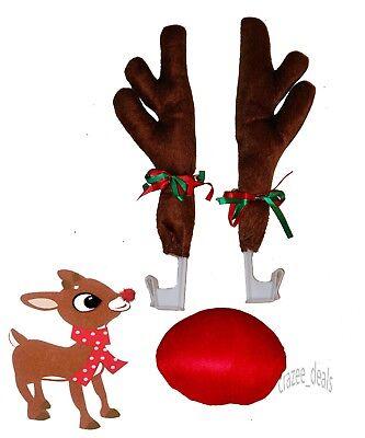 Christmas Car Costume Reindeer Antlers Car Truck SUV Decorating Kit NEW](Costume Antlers)