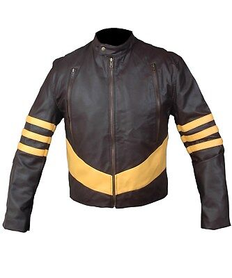 Xmen Kostüme (Xmen Origin Wolverine Logan Hugh Jackman Brown and Beige Jacket)