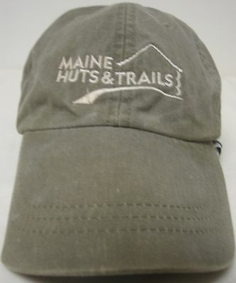 MAINE HUTS AND TRAILS CAP COVER ADJUSTABLE STRAP BACK EUC