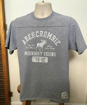 Abercrombie and Fitch Gray T shirts Skiing Theme T shirts Adult Medium T shirts