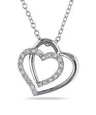Sterling Silver 1/10 ct TDW Diamond Heart Pendant Necklace I-J I2-I3