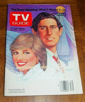 PRINCESS DIANA -PRINCE CHARLES and LADY DIANA - ROYAL WEDDING TV GUIDE - JULY 1981