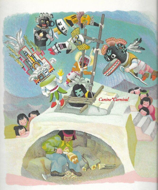 VINTAGE INDIAN NATIVE AMERICAN  HOPI KACHINA DOLL CARVER 1940s Childrens Art