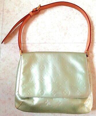 Louis vuitton sac thompson street cuir vernis monogram gris vert dore city bag