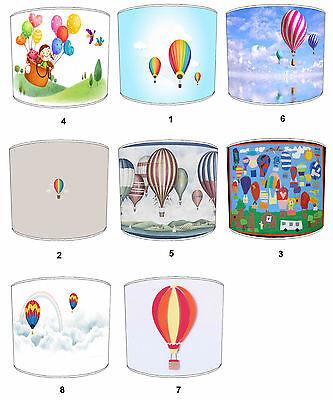 Children`s Hot Air Balloons Lampshades Ideal To Match Hot Air Balloon Pillows.