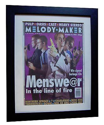 MENSWEAR+MELODY MAKER 1995+ORIGINAL+VINTAGE+POSTER+FRAMED+EXPRESS GLOBAL - Express Menswear