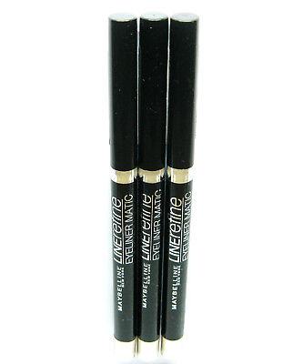3 x MAYBELLINE LINErefine EYELINER MATIC black /