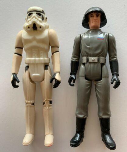 Star Wars Storm Trooper & Death Squad Commander LOT of 2 Figures Hong Kong 1977