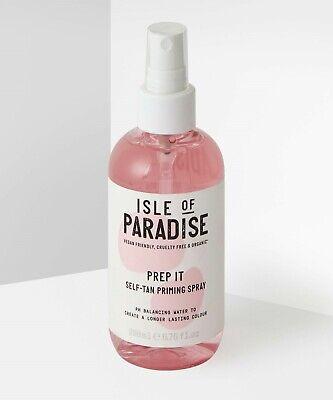 ISLE OF PARADISE 200ml PREP IT SELF TAN PRIMING SPRAY - NEW + UNUSED