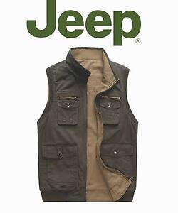2FACES OUTDOOR OFF-ROAD MEN'S CARGO COTTON VEST SPORT CASUAL TRAVEL COAT CAMPING