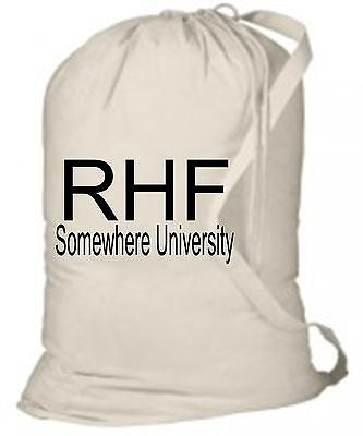 (Personalized Laundry Bag with Name & School Name - Camp,Graduation, College)