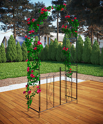 VCM Garden Wedding Rose Arch Pergola Archway Climbing Plants Iron Metal Gate