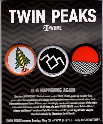 TWIN PEAKS PROMOTIONAL BUTTON SET for sale  Shipping to India