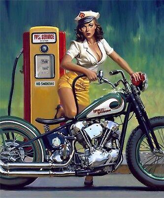 Harley Davinson Motorcycle  8x10 Photo Print
