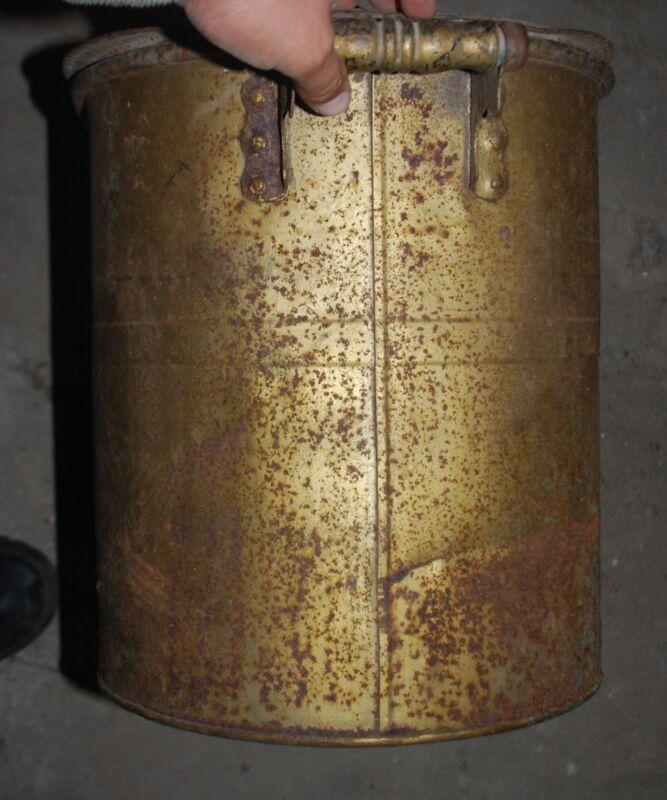 Old Vintage Primitive Steel Wash Tub Boiler w Wooden Handle Blanchard Bros.