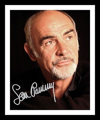 SEAN CONNERY AUTOGRAPHED SIGNED & FRAMED PP POSTER PHOTO