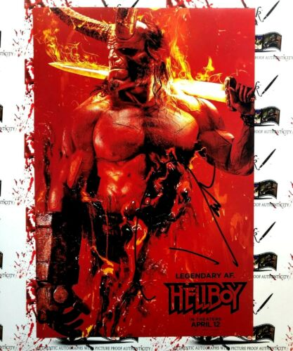 David Harbour JSA Autographed 12x18 Hellboy 2019 Movie Poster Photo